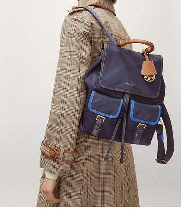 Tory Burch バックパック・リュック Tory Burch PERRY NYLON COLOR-BLOCK FLAP BACKPACK