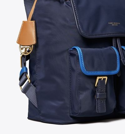 Tory Burch バックパック・リュック Tory Burch PERRY NYLON COLOR-BLOCK FLAP BACKPACK(3)