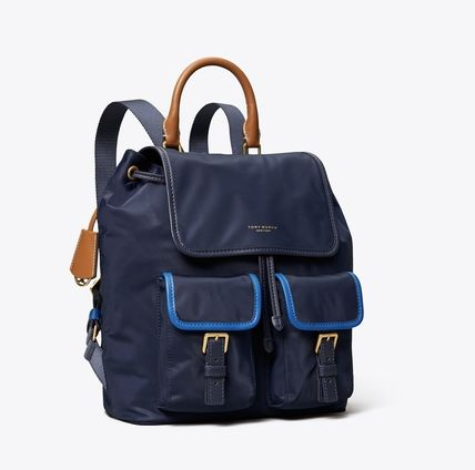 Tory Burch バックパック・リュック Tory Burch PERRY NYLON COLOR-BLOCK FLAP BACKPACK(5)