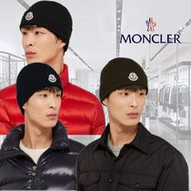 **Moncler**モンクレール★Logo-Appliqued Ribbed Wool Beanie