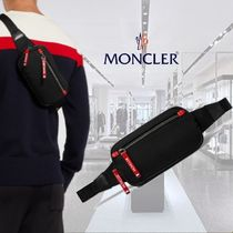 **Moncler**モンクレール★Aude Leather-Trimmed Drill Belt Bag