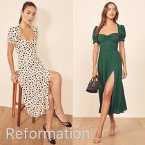 【REFORMATION】Lacey Dress★パフスリーブ★ワンピース★2019aw