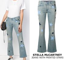 STELLA McCARTNEY JEANS WITH PRINTED STARS