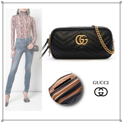 buy popular 8ad05 f2027 《GUCCI》MiniBagGGMarmont /グッチ/ミニチェーンバッグ/黒/財布