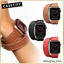 【Casetify】 2-in-1 イタリアンレザーApple Watchベルト