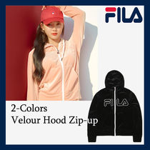 [FILA] Velour Hood Zip-Up ★日本未入荷 90-100号 2色
