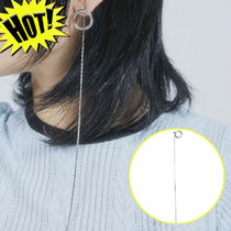 ☆OPEN THE DOOR☆ silver circle long chain ピアス