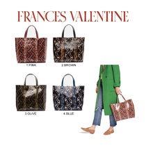 【FRANCES VALENTINE】 Margaret Tote Printed Leather Snake