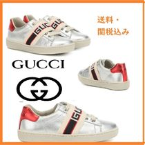 GUCCIグッチ★KIDS Ace metallic leather sneakers★子供用