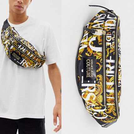 Versace Jeans Couture バロック模様斜めがけボディバッグ