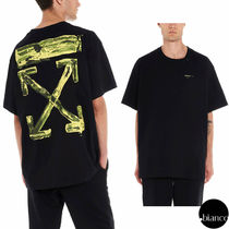 関税込OffWhite 2019AW ACRYLIC ARROWS S/S OVER Tシャツ ロゴ