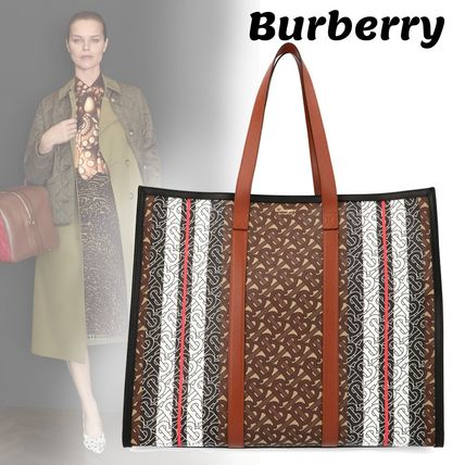 【Burberry】'Book' tote-横長