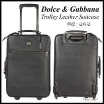 【Dolce&Gabbana】Trolley Leather Suitcase 関税/送料込