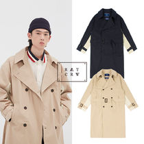 韓国ブランド コート [ROMANTICCROWN] WIDE LAPEL TRENCH COAT 2COLOR