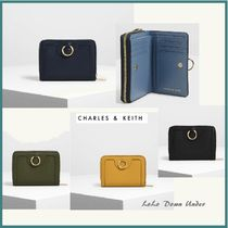 ★CHARLES AND KEITH☆RING DETAIL 2つ折りミニ財布 選べる4色