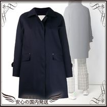 関税込◆Navy Bonded Cotton Coat LR-094