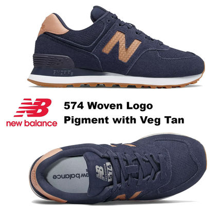 New Balance スニーカー 完売必須!!New Balance 574 Woven Logo Pigment with Veg Tan