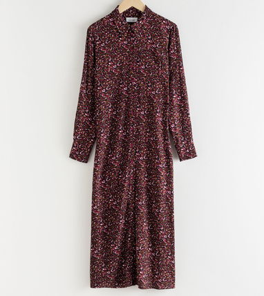 """& Other Stories ワンピース """"& Other Stories"""" Micro Floral Midi Shirt Dress Pink(2)"""