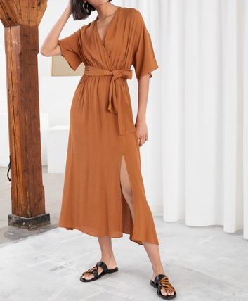 "& Other Stories ワンピース ""& Other Stories"" Side Slit Midi Wrap Dress Rust(3)"