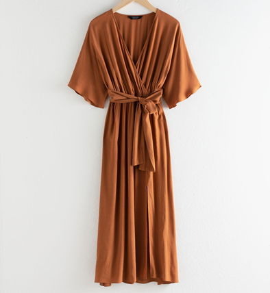 "& Other Stories ワンピース ""& Other Stories"" Side Slit Midi Wrap Dress Rust(5)"