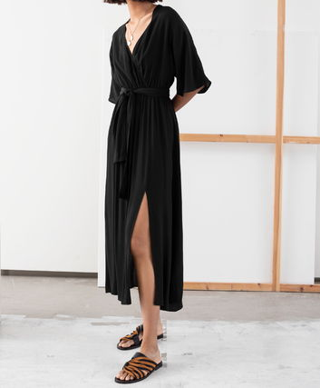 "& Other Stories ワンピース ""& Other Stories"" Side Slit Midi Wrap Dress Rust(8)"