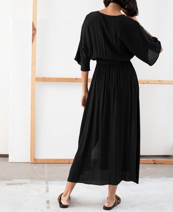 "& Other Stories ワンピース ""& Other Stories"" Side Slit Midi Wrap Dress Rust(9)"