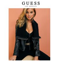 【GUESS】日本未入荷●大人気●VICTORIA FAUX-LEATHER JACKET