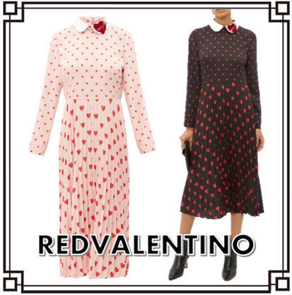 RED VALENTINO ワンピース 【希少★RED VALENTINO 関税込 】ハートプリント ワンピース 2色