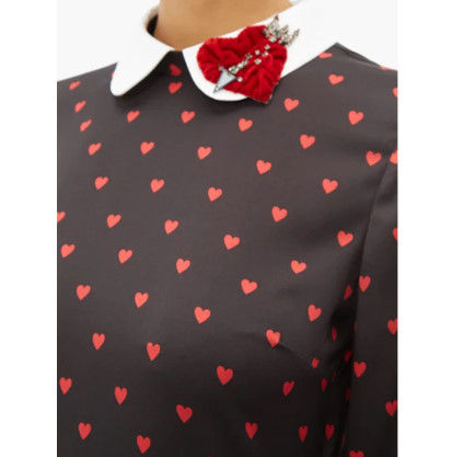 RED VALENTINO ワンピース 【希少★RED VALENTINO 関税込 】ハートプリント ワンピース 2色(4)
