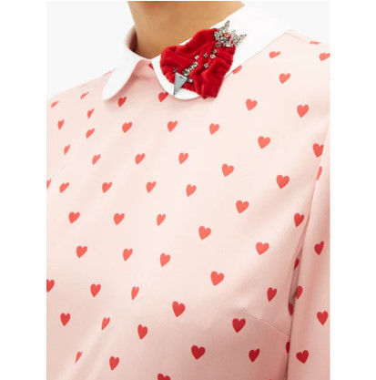 RED VALENTINO ワンピース 【希少★RED VALENTINO 関税込 】ハートプリント ワンピース 2色(9)