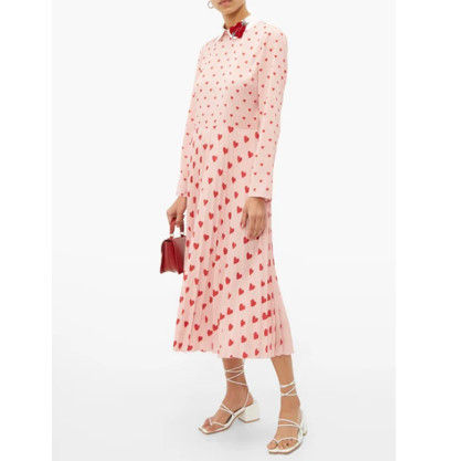 RED VALENTINO ワンピース 【希少★RED VALENTINO 関税込 】ハートプリント ワンピース 2色(13)