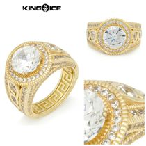 【King Ice】Gold .925 Sterling Silver Round Cut Ring