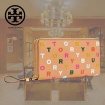 TORY BURCH LETTERS PRINTED ZIP CONTINENTAL WALLET