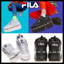 ★関税込★FILA★DISRUPTOR 2★WEDGE TAPEY TAPE★厚底★2色★