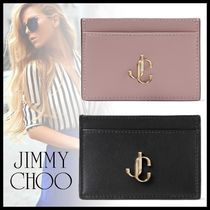 【19AW】ジミーチュウ UMIKA Leather Card Holder with JC Logo