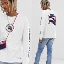 TOMMY JEANS 長袖 ロゴ Tシャツ 関税送料無料