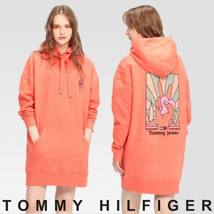 Tommy Hilfiger ワンピース TOMMY JEANS ロゴオーバーサイズワンピース 国内買付 すぐ届く