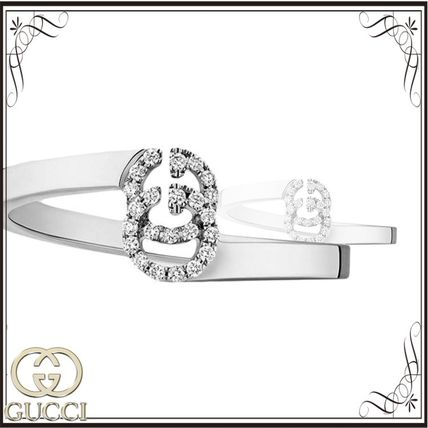 GUCCI スニーカー 関税込◆GG Running ring in white gold with diamonds
