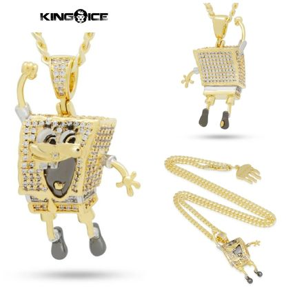 King Ice ネックレス・チョーカー 【King Ice】SpongeBob x King Ice - The I'm Ready! Necklace