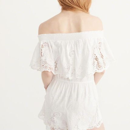 Abercrombie & Fitch ワンピース OFF-THE SHOULDER LACE DRESS(2)