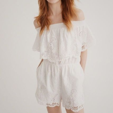 Abercrombie & Fitch ワンピース OFF-THE SHOULDER LACE DRESS(3)