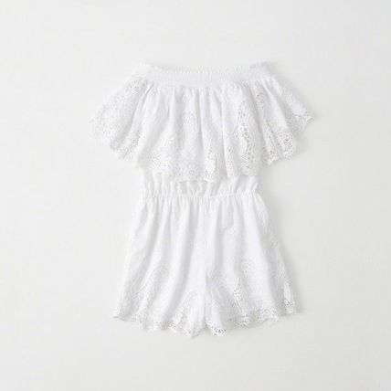Abercrombie & Fitch ワンピース OFF-THE SHOULDER LACE DRESS(4)