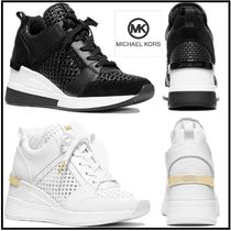 Michael Kors☆厚底☆Georgie Woven Leather Trainer☆税・送込