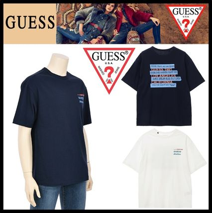 Guess Tシャツ・カットソー ★イベント/関税込★GUESS★LETTERING 半袖 Tシャツ★2色★