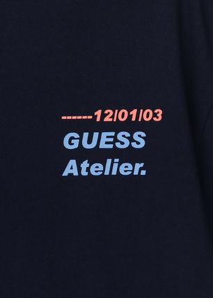 Guess Tシャツ・カットソー ★イベント/関税込★GUESS★LETTERING 半袖 Tシャツ★2色★(5)
