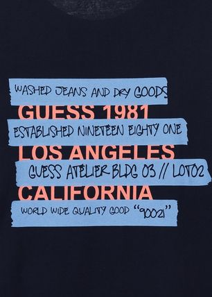 Guess Tシャツ・カットソー ★イベント/関税込★GUESS★LETTERING 半袖 Tシャツ★2色★(9)