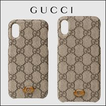 GUCCI Ophidia iPhone X/XS/Max case ロゴケース