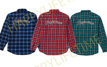 SUPREME19FW★ARC LOGO QUILTED FLANNEL SHIRT