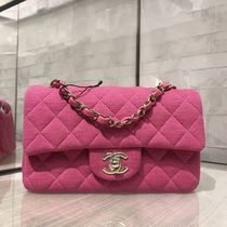 ★2019 CHANEL★CLASSICS MINI RECTANGULAR FLAP in Jersey Pink