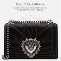 DOLCE&GABBANA MEDIUM DEVOTION CROSSBODY BAG IN QUILTED NAPPA